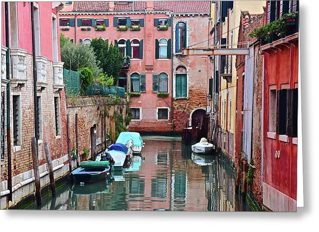 Down The Canal View Greeting Card