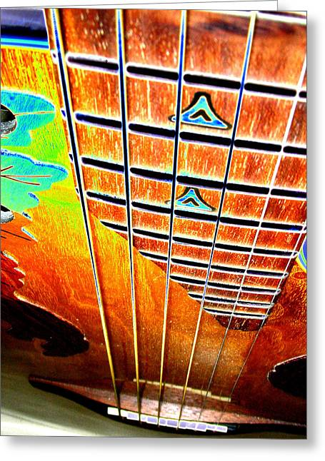 Down The Fingerboard Greeting Card by Peter  McIntosh