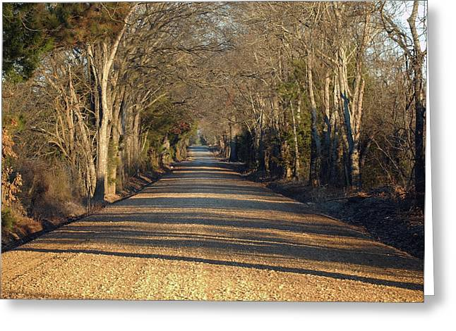 Down The Gravel Road Greeting Card by Diane Luke
