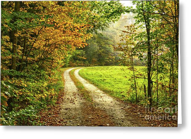 Down The Road Greeting Card by Deborah Benoit