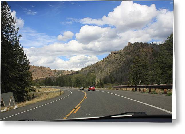 Down The Road Greeting Card by Gregory Jeffries