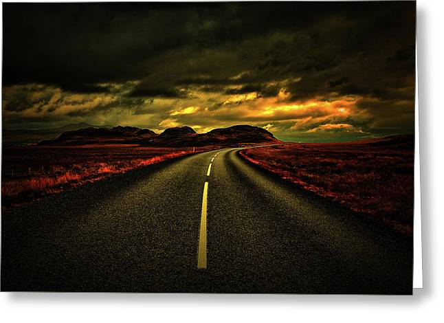 Greeting Card featuring the photograph Down The Road by Scott Mahon