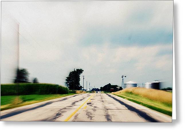 Down The Road Greeting Card by Suzanne Marie  Lambert