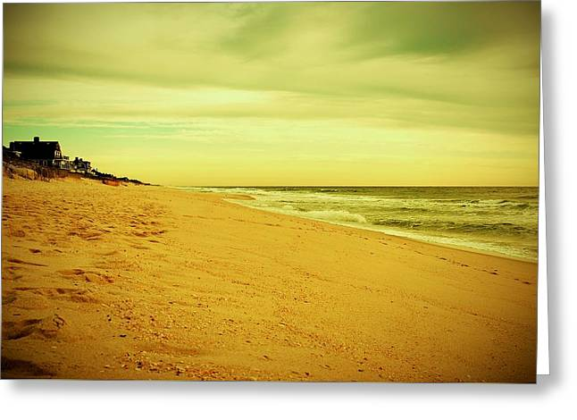 Down The Shore - Jersey Shore Greeting Card by Angie Tirado