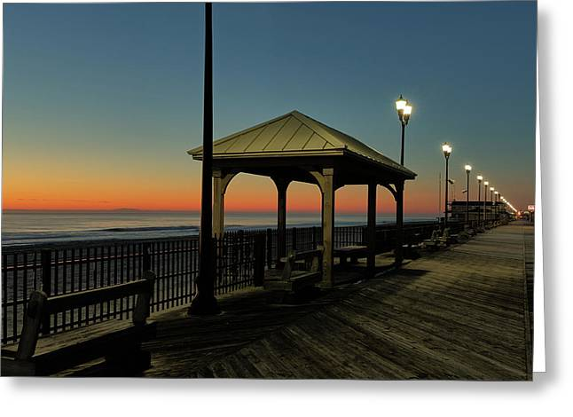 Down The Shore At Dawn Greeting Card