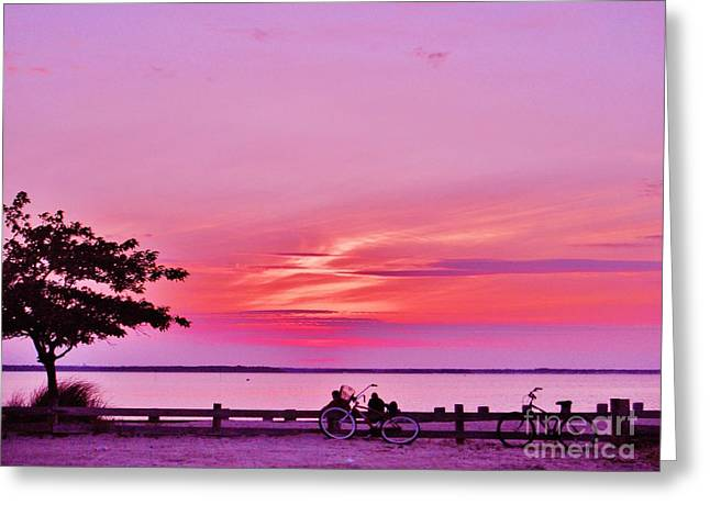 Greeting Card featuring the photograph Summer Down The Shore by Susan Carella