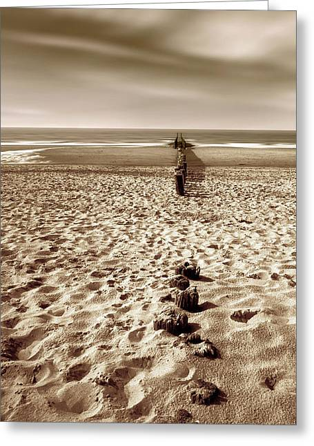 Down The Shore Greeting Card by Wim Lanclus