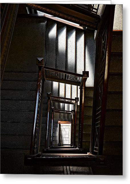 Down The Stairs Greeting Card