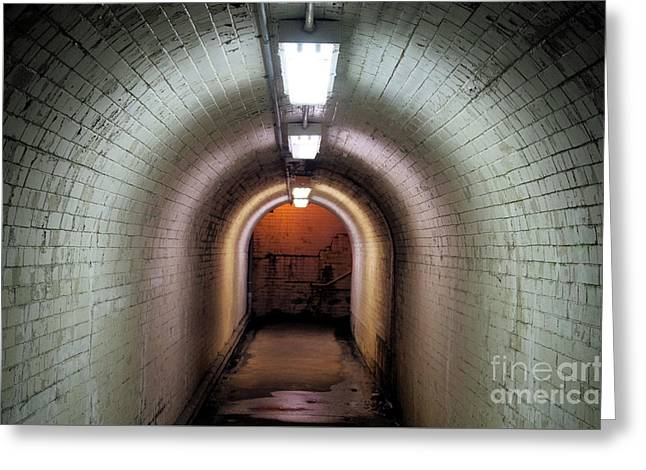 Down The Tunnel Greeting Card