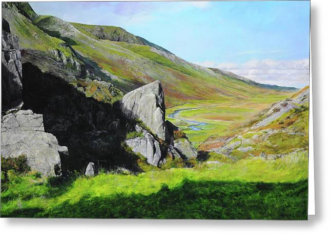 Down The Valley Greeting Card by Harry Robertson