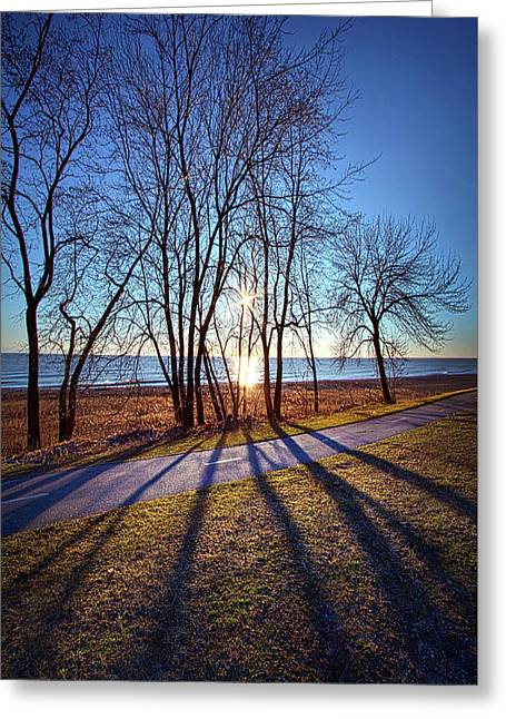 Greeting Card featuring the photograph Down This Way We Meander by Phil Koch