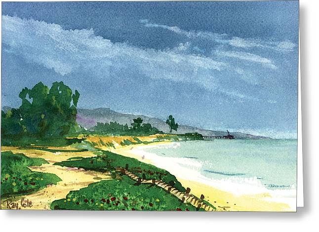 Down To The Beach Greeting Card by Ray Cole
