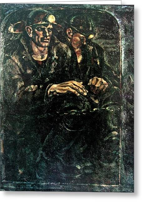 Down To The Coal-face Greeting Card by Ivan Filichev