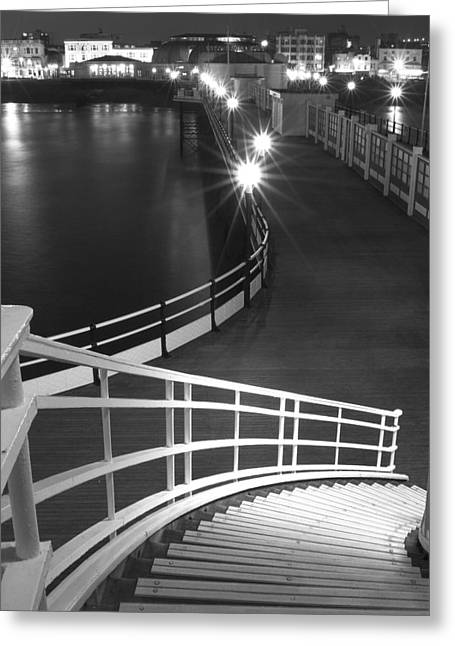 Down To The Pier Greeting Card