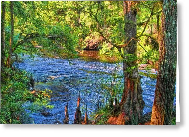 Down To The River Greeting Card by HH Photography of Florida