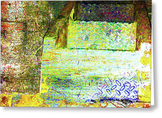 Greeting Card featuring the mixed media Down by Tony Rubino