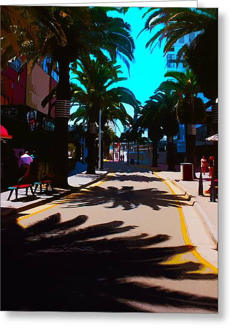 Down Town Surfer's Paradise Greeting Card by Susan Vineyard