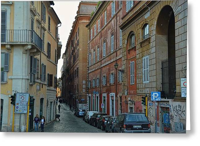 Down Via Giulia Greeting Card by JAMART Photography