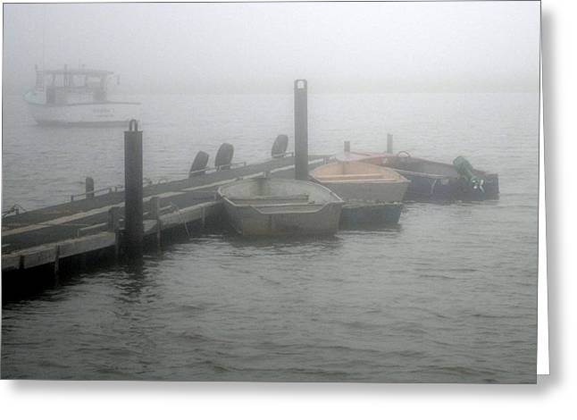 Downeast Misty Morning Greeting Card by Steven Scott