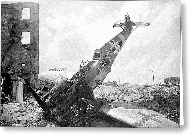 Downed German Plane Stalingrad Greeting Card by David Lee Guss