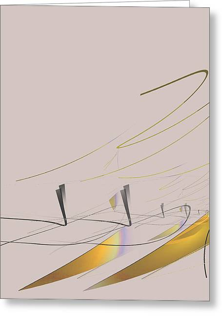 Downhill Racer Greeting Card by John Krakora