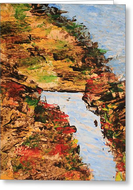 Downhill Stream Abstract Greeting Card