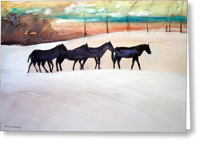 Downs Stables Greeting Card