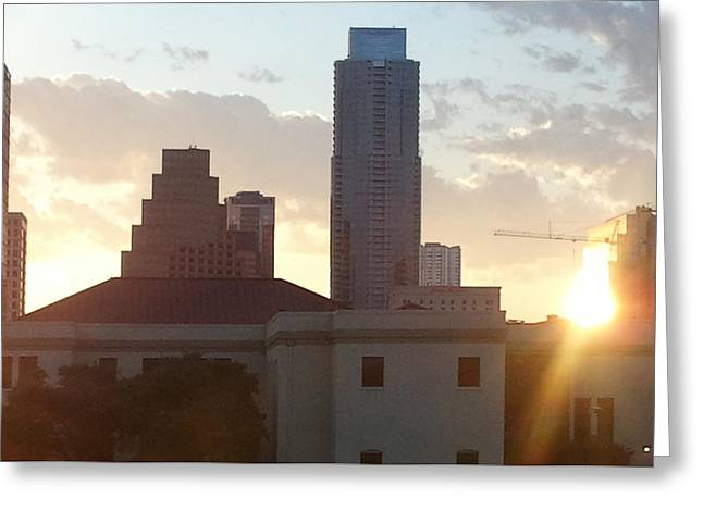 Downtown Austin Greeting Card