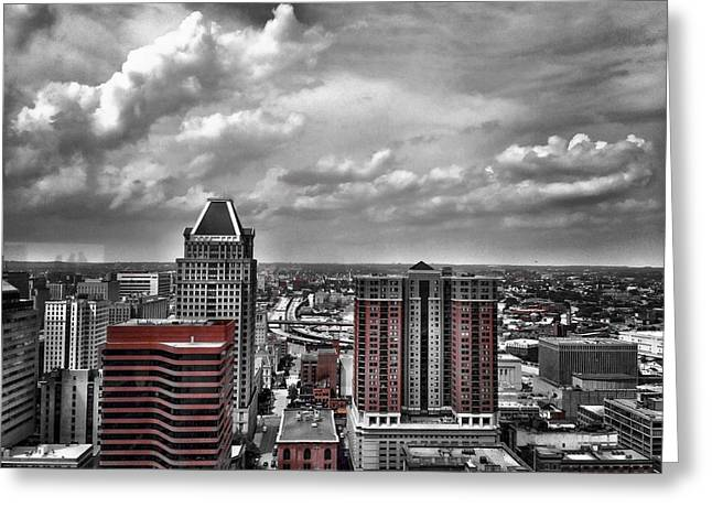 Downtown Baltimore City Greeting Card