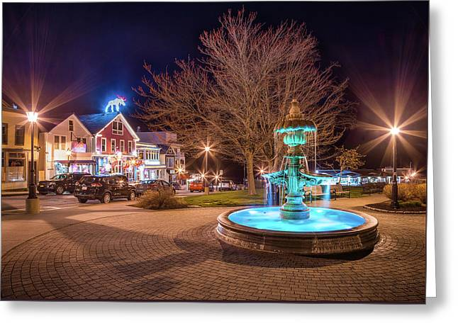 Downtown Bar Harbor Greeting Card
