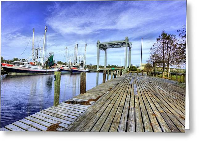 Downtown Bayou La Batre Greeting Card