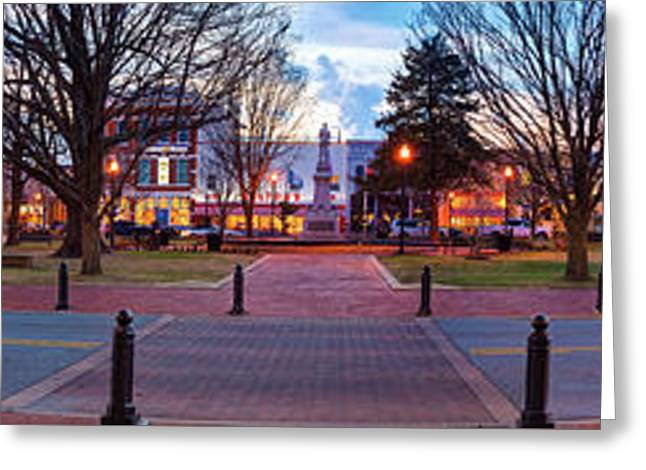 Downtown Bentonville Arkansas Town Square Skyline Panoramic  Greeting Card