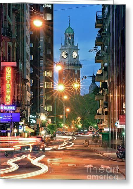 Greeting Card featuring the photograph Downtown by Bernardo Galmarini