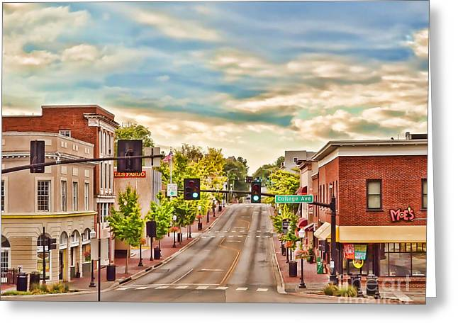Downtown Blacksburg Greeting Card