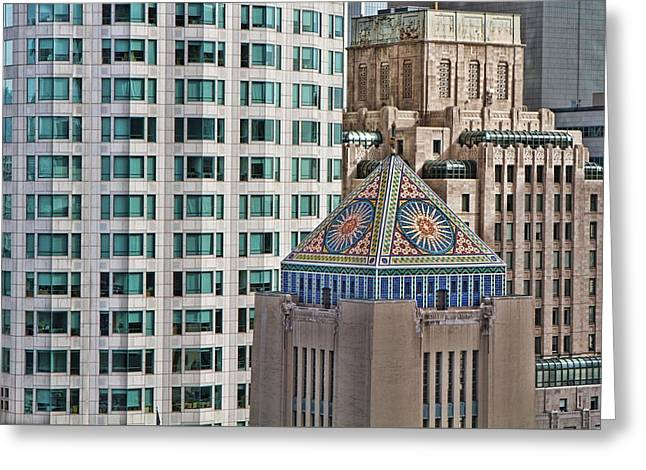 Greeting Card featuring the photograph Downtown Blend by Kim Wilson