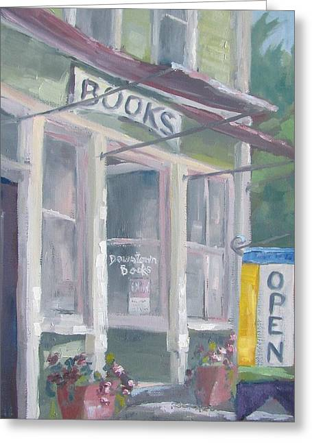 Downtown Books Four Greeting Card by Susan Richardson