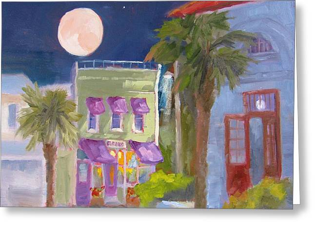 Downtown Books Nocturne Greeting Card