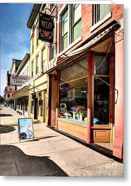 Downtown Brookville Indiana # 2 Greeting Card by Mel Steinhauer
