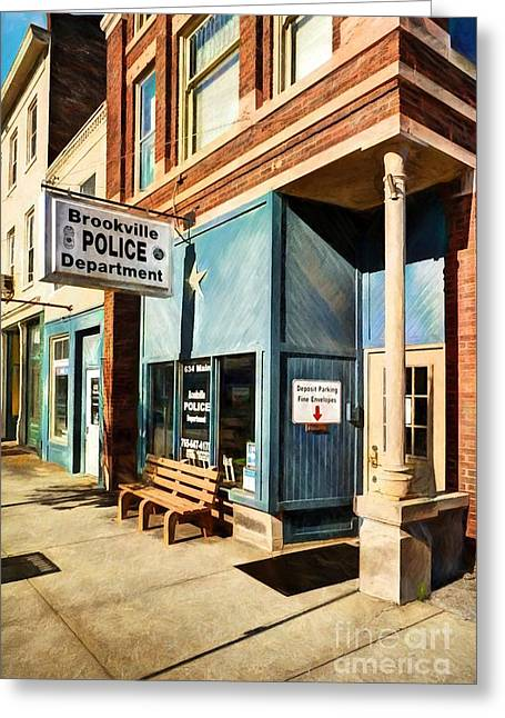 Downtown Brookville Indiana Greeting Card