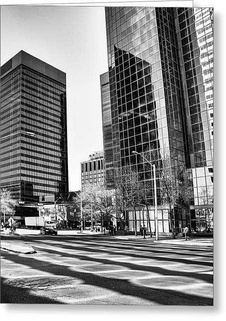 Greeting Card featuring the photograph Downtown Bubble Reflections by Darcy Michaelchuk