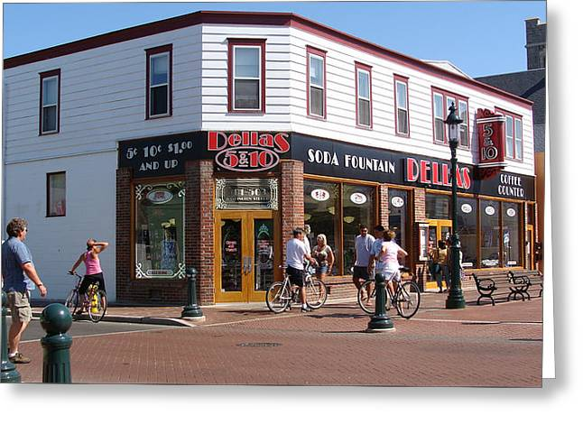 Downtown Cape May New Jersey Greeting Card by Rod Jellison