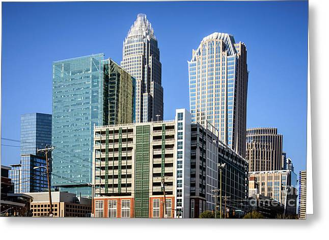 Downtown Charlotte North Carolina Buildings Greeting Card