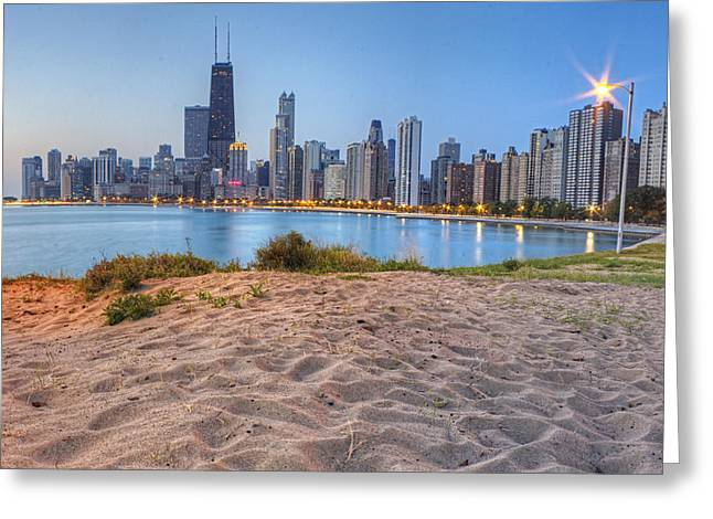 Downtown Chicago From North Beach Greeting Card by Twenty Two North Photography