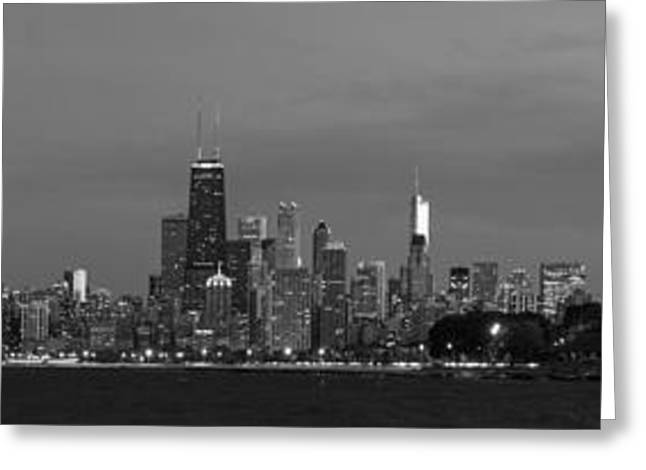 Downtown Chicago In Black And White Greeting Card by Twenty Two North Photography