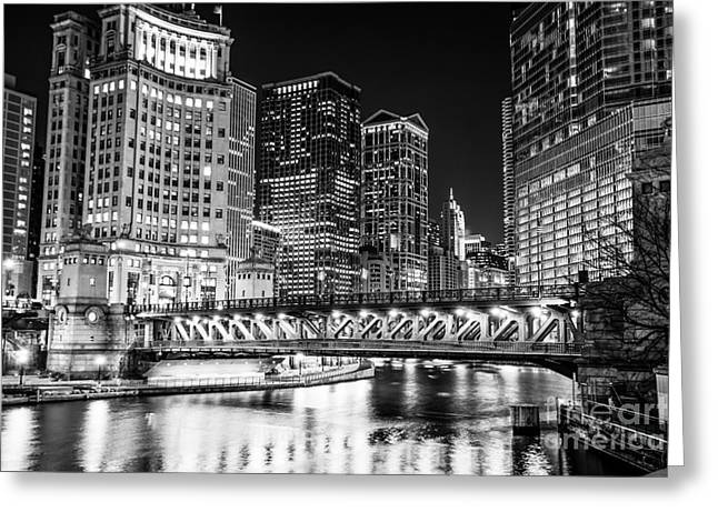 Downtown Chicago Michigan Avenue Bridge Picture Greeting Card by Paul Velgos