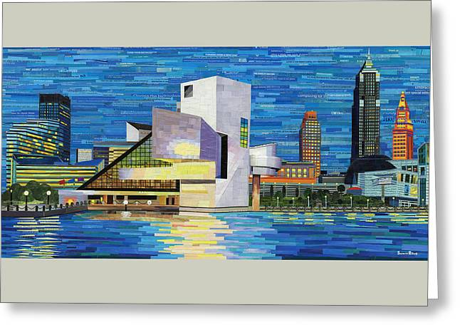 Downtown Cleveland Skyline  Greeting Card