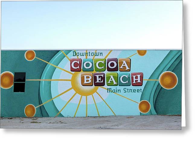 Downtown Cocoa Beach Greeting Card