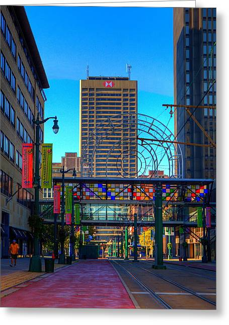 Downtown Color Greeting Card by Don Nieman