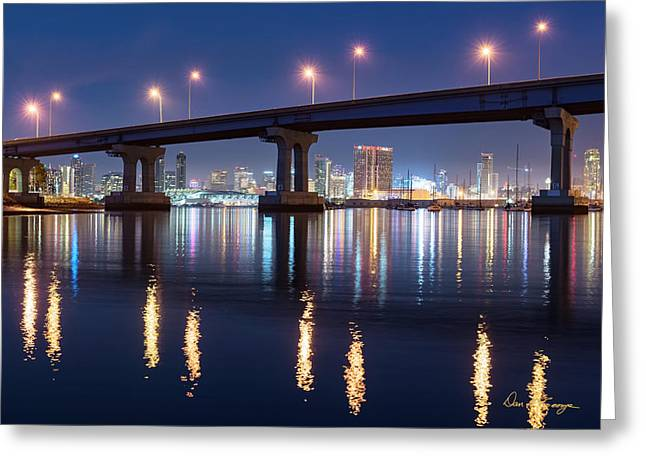 Greeting Card featuring the photograph Downtown by Dan McGeorge