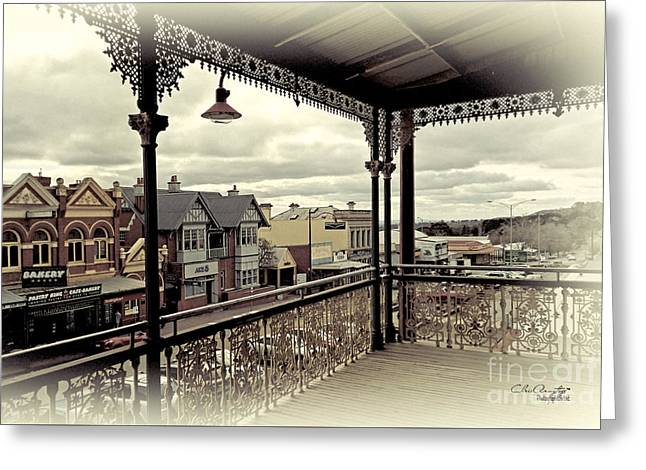 Greeting Card featuring the photograph Downtown Daylesford II by Chris Armytage